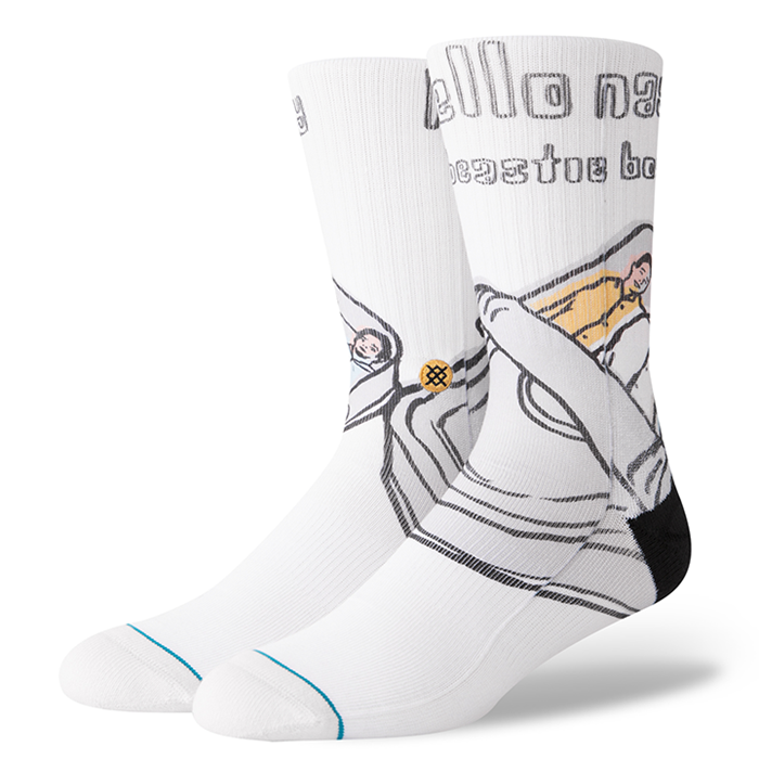 Stance x Beastie Boys - Hello Nasty Men's Socks, White
