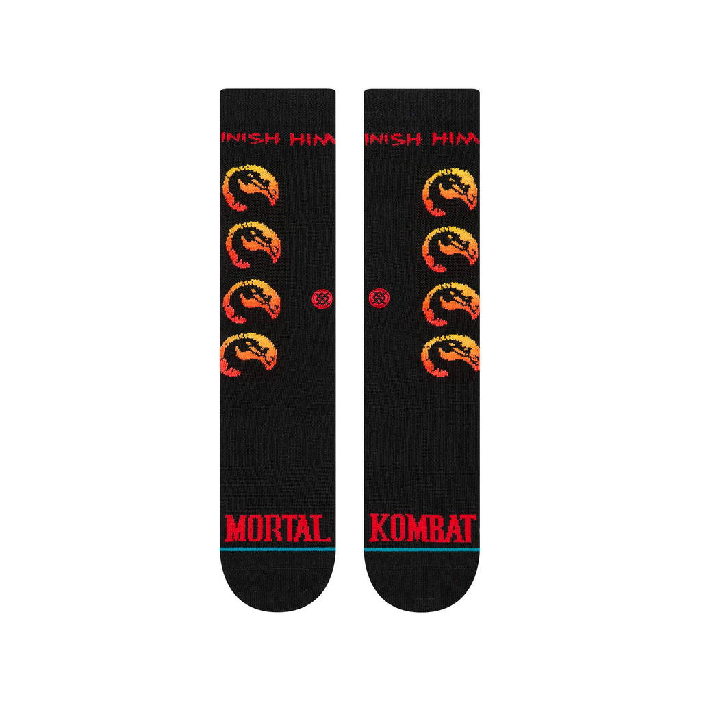 Stance x Mortal Kombat Finish Him Men's Socks, Black