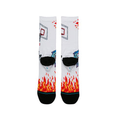 Stance - Neckface on Fire Men's Socks, White - The Giant Peach