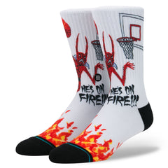 Stance - Neckface on Fire Men's Socks, White