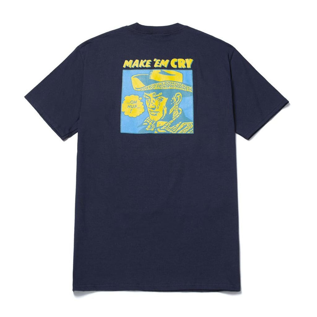HUF - Make Em Cry Dude Men's Tee, French Navy