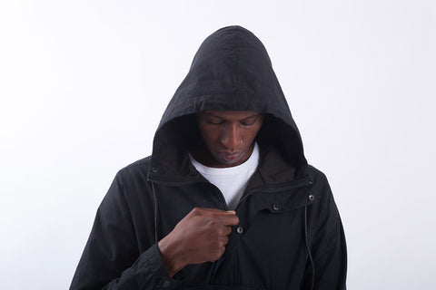 Akomplice VSOP- Maiden Nylon Men's Anorak Fishtail, Black