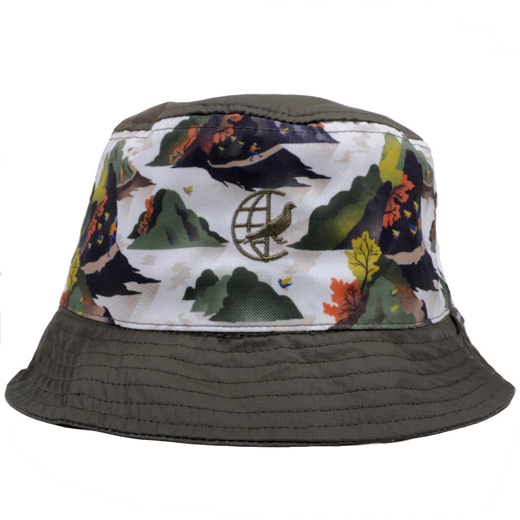 Staple - Militech Bucket Hat, Olive - The Giant Peach - 1