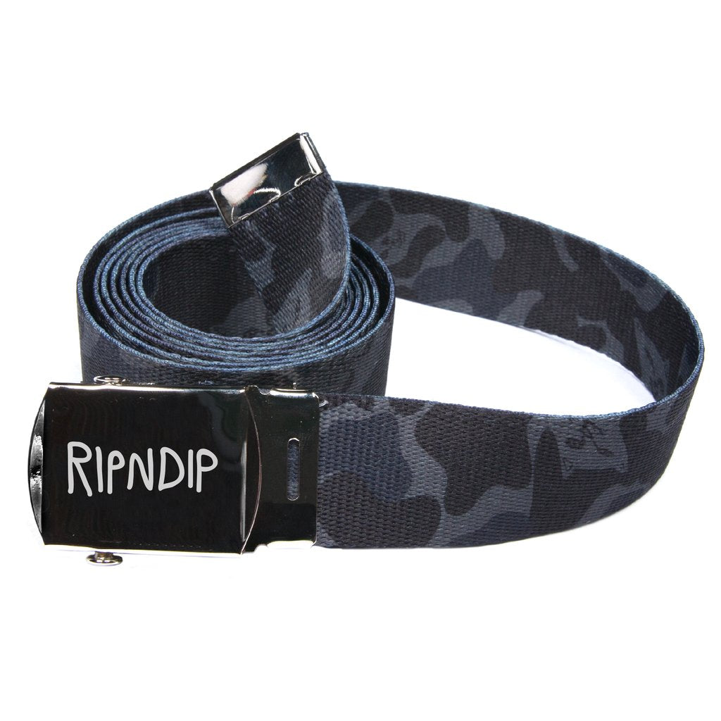 RIPNDIP - Nerm Camo Web Belt, Blackout Camo