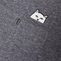 RIPNDIP - Lord Nermal Men's Pocket Tee, Athletic Grey - The Giant Peach