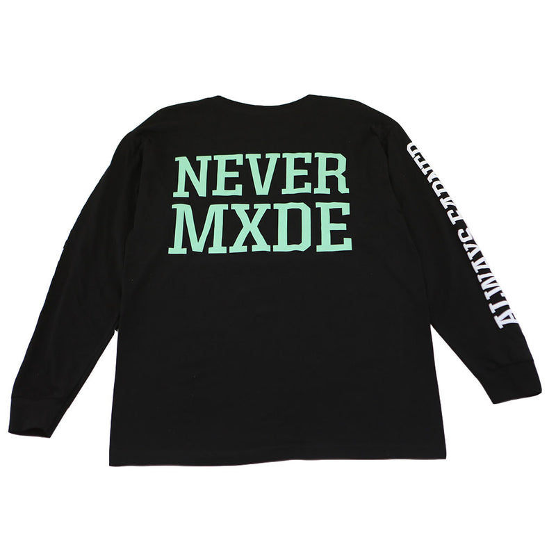 Never Made - CXRE Men's L/S Shirt, Black