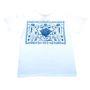 Never Made - Pano Men's Shirt, White/Blue