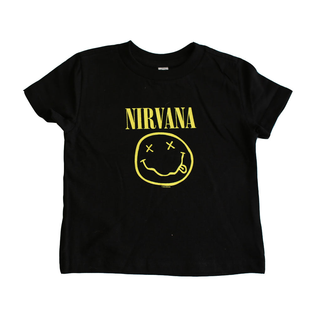 Nirvana - Smile Toddler Tee, Black