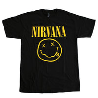 Nirvana - Smile Men's Tee,  Black