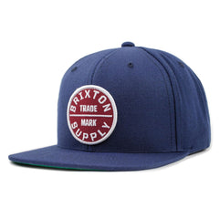 Brixton - Oath III Men's Snapback Hat, Navy/Burgundy - The Giant Peach