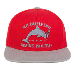 Odd Future - Dolphin No Dumping Hat, Red - The Giant Peach