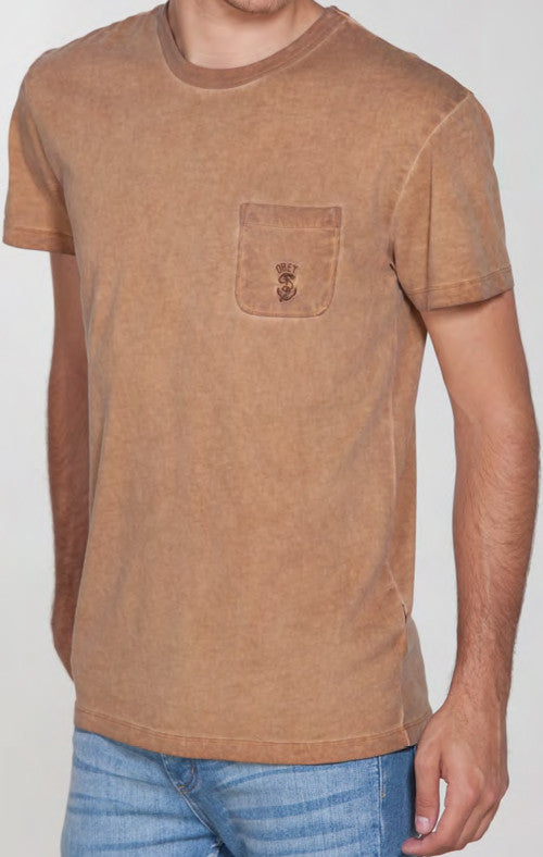 OBEY - Newport Men's Shirt, Bone Brown - The Giant Peach