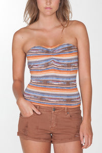 OBEY - Sedona Women's Tube Top, Brown - The Giant Peach