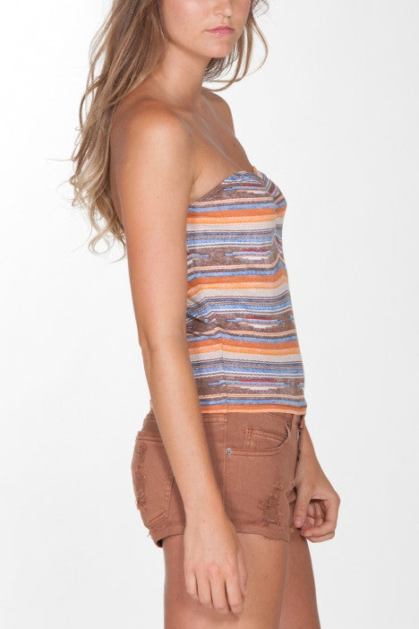 OBEY - Sedona Women's Tube Top, Brown - The Giant Peach - 2