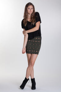 OBEY - Illusions Women's Skirt, Grape Leaf - The Giant Peach