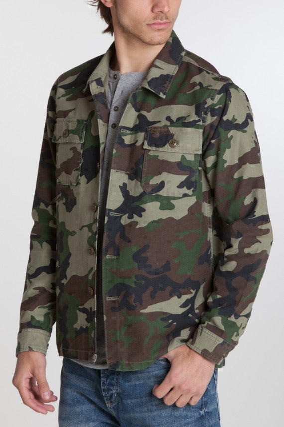 OBEY - Canter Men's Overshirt, Camo - The Giant Peach