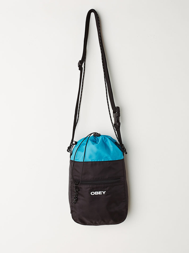OBEY - Commuter Cinch Bag, Sky Blue/Black