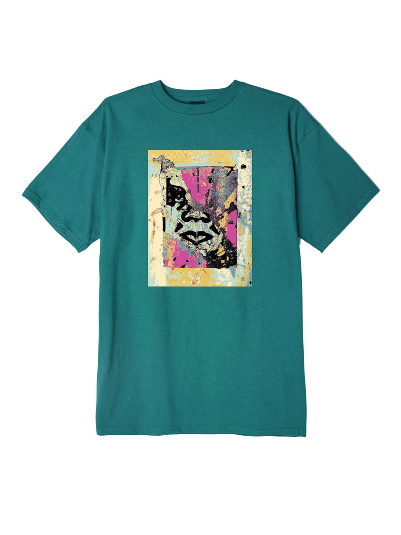 OBEY - Enhanced Disintegration Men's Tee, Teal