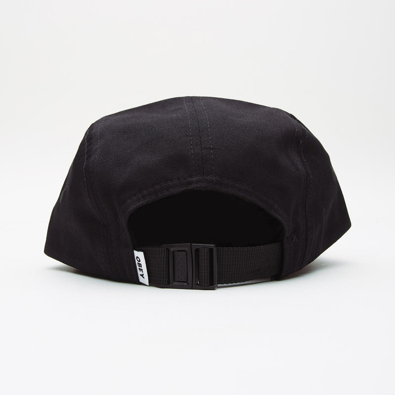 OBEY - Eyes 5 Panel Hat, Black