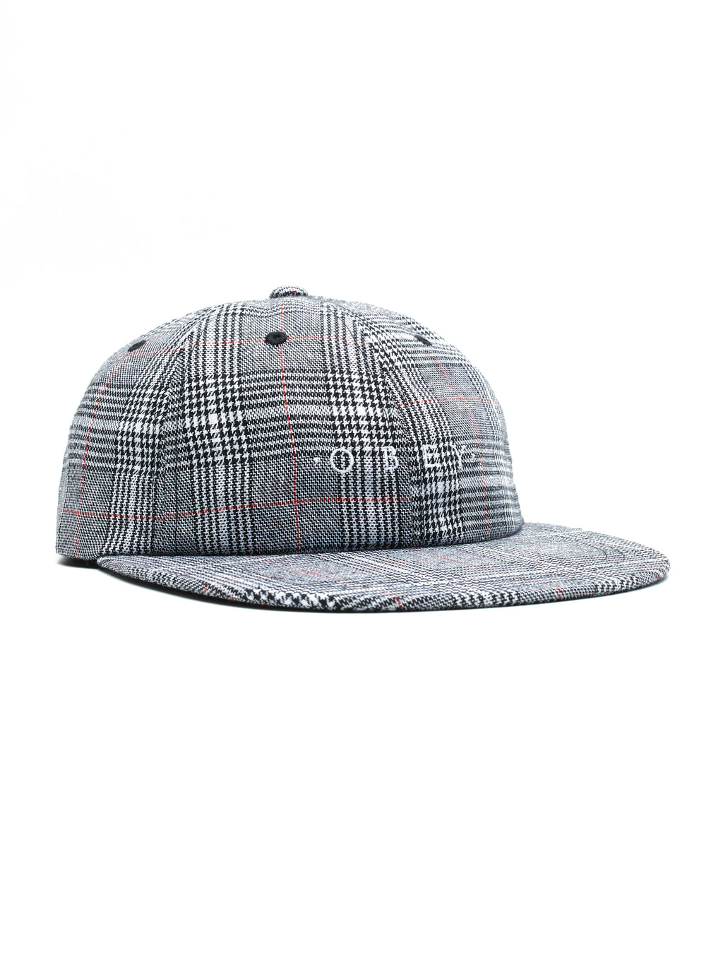 OBEY - Holmes 6 Panel Men's Strapback, White Multi