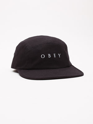 OBEY - Lush 5 Panel Hat, Black