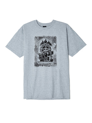OBEY - Press Etching Men's Tee, Heather Grey