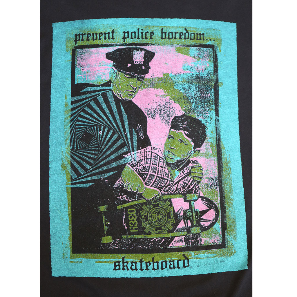 OBEY - Prevent Police Boredom Men's Tee, Off Black