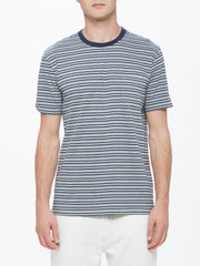OBEY - Reno Stripe Men's Pocket Tee, Blue Multi - The Giant Peach