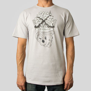 SuperFishal (Jeremy Fish) - Octopus Island Men's Shirt, Silver - The Giant Peach