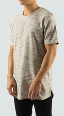 Akomplice VSOP - Ouest Men's Tee, Cream/Black - The Giant Peach