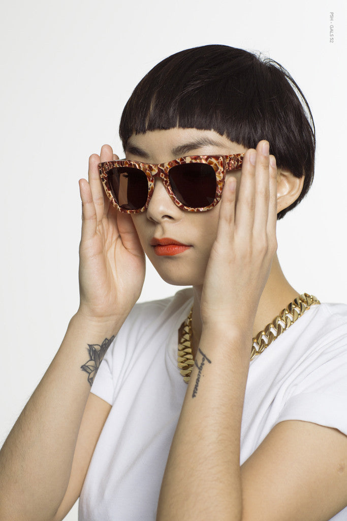 SUPER by Retrosuperfuture - Gals Fierce Lava Sunglasses - The Giant Peach