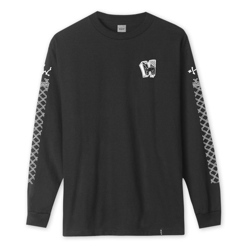 HUF - Pavillion Men's L/S Tee, Black