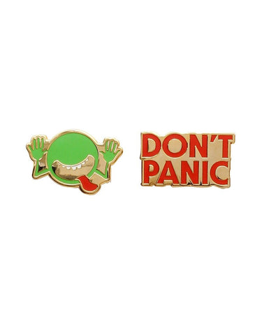 Out Of Print - The Hitchhiker's Guide to the Galaxy Enamel Pin Set