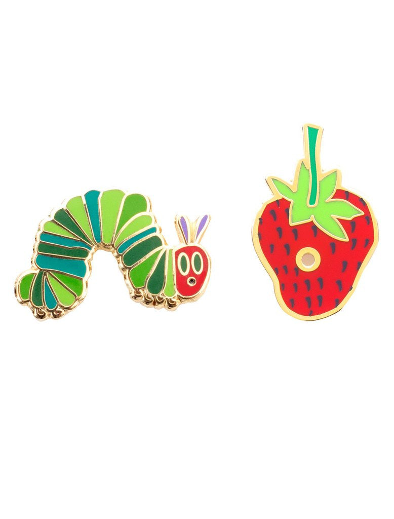 Out Of Print - The Very Hungry Caterpillar Enamel Pin Set - The Giant Peach