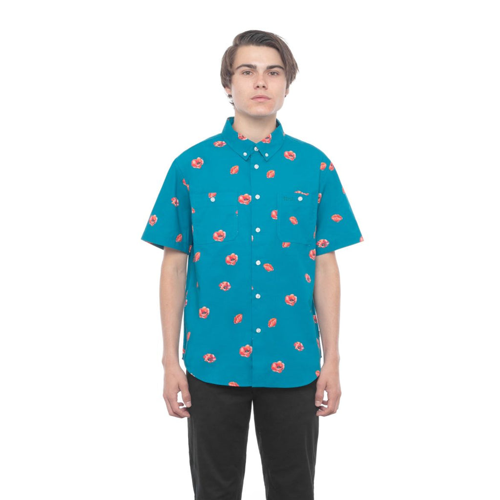 HUF - Poppy Woven S/S Men's Shirt, Biscay Bay