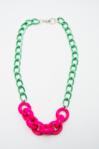Rainbow Starr- Puff Necklace, Green