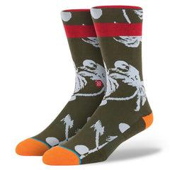 Stance - Palmer Men's Socks, Olive - The Giant Peach