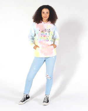 tokidoki Peace Out Tie Dye Women's Hoodie, Multi