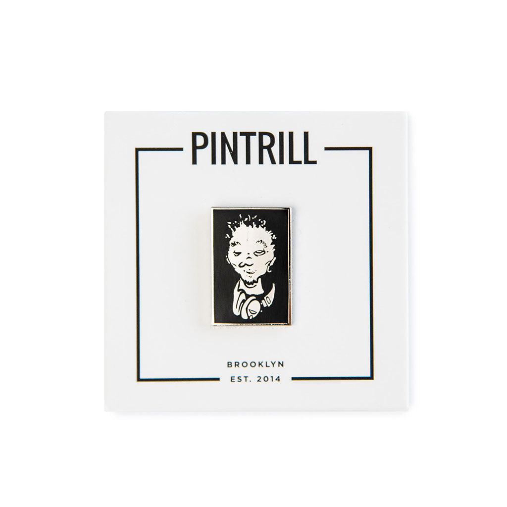 Pintrill x Del The Funky Homosapien - No Need For Alarm Del Face Pin