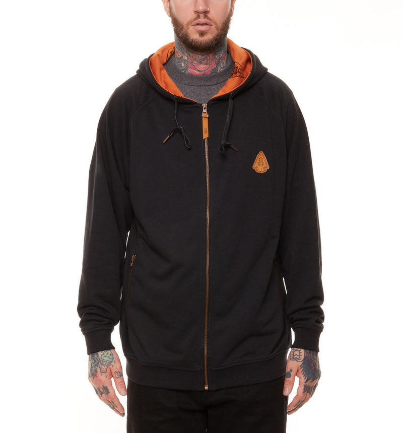 REBEL8 - Arrowhead Men's Zip Hoodie, Black - The Giant Peach