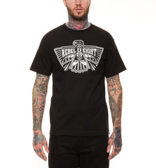 REBEL8 - Eighth Omen Men's Shirt, Black - The Giant Peach - 1