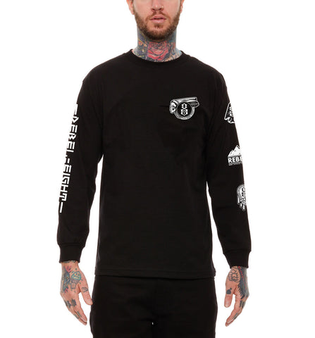 REBEL8 - Pioneers Men's L/S Shirt, Black