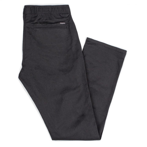 Brixton - Reserve Standard Fit Drawstring Men's Pants, Black