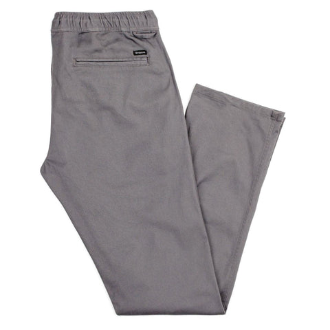 Brixton - Reserve Standard Fit Drawstring Men's Pants, Charcoal