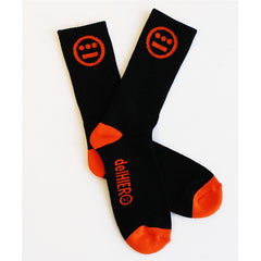 delHIERO - Hiero Socks, Black/Orange - The Giant Peach