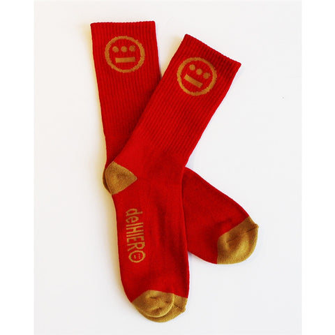 delHIERO - Hiero Socks, Red/Gold