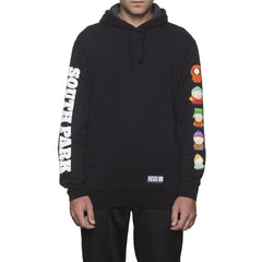 HUF x South Park Men's Pullover Hoodie, Black - The Giant Peach