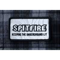 HUF x Spitfire L/S Men's Flannel Shirt, Black