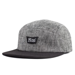 Brixton - STITH 5 Panel Men's Cap, Black - The Giant Peach