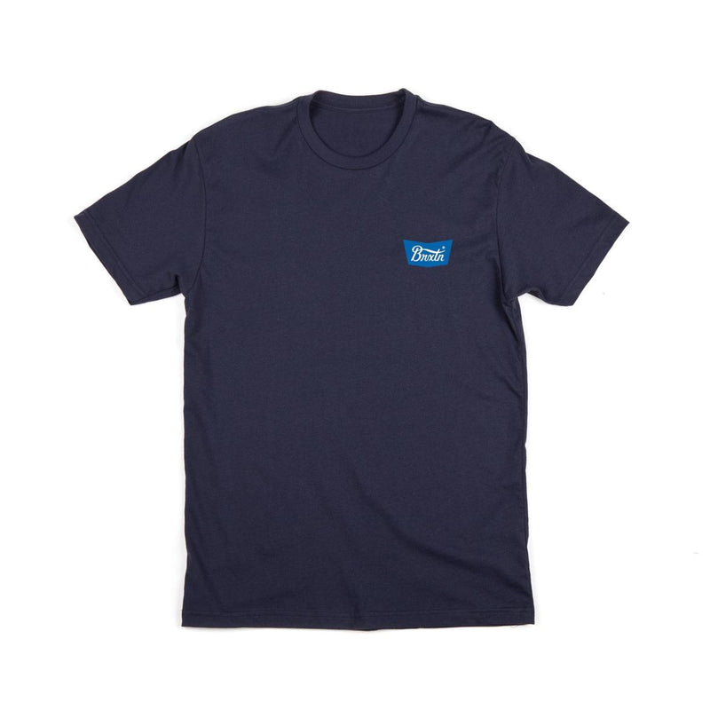 Brixton - STITH Men's S/S Standard Tee, Navy - The Giant Peach